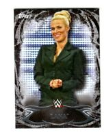 WWE Lana #17 2015 Topps Undisputed Black Parallel Base Card SN 93 of 99