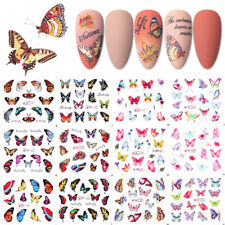 DIY Nail Art Stickers 12 Patterns Water Decals Maple leaf Butterfly Nail decals
