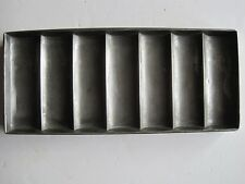 Vintage steel chocolate bar mould -  7 rectangular sections - Randle & Smith