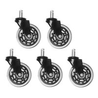 5/20PCS Office Chair Caster Rubber Swivel Wheels Replacement Heavy Duty 3 inch