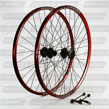 "Pure XCR Red 26"" mountain bike wheel set, 26"",Shimano Viam M475 Disc, DT Swiss"