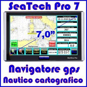 "NAVIGATORE GPS NAUTICO CARTOGRAFICO PLOTTER - DISPLAY 7,0"" CON CARTOGRAFIA"
