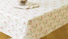 Charlotte Rose 132 cm  x 178cm  Vintage Style Floral Cotton Tablecloth