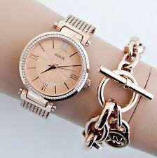 GUESS  Uhr Damenuhr W0638L4 SOHO Edelstahl Rose Gold NEU!