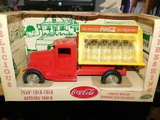 Coca-Cola Bottling Truck w/10 Glass Coke Bottles 2001 Gearbox Steel 1930's