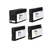 4PK Hi-Yield Ink For HP 950 XL BK 951 XL C/M/Y OfficeJet Pro 8600 8610 8620 8100