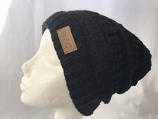 Pro.fashion Knit Slouchy Baggy Beanie Winter Hat Ski Slouchy Cap Skull Women Bla