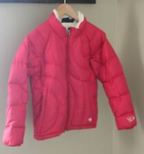 Mountain Hardwear Down Puffer Quilted Coat Jacket Medium Pink Fleece Lined Ski