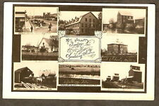 n RPPC Nebraska SPALDING 8 Town Views STANDARD OIL More 1910 Real Photo Postcard