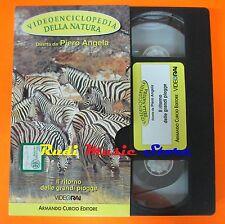 film VHS VIDEOENCICLOPEDIA DELLA NATURA GRANDI PIOGGE  CARTONATA (F16)  no dvd