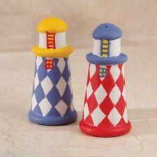Set of 2 Ceramic Lighthouse Salt & Pepper Shaker Nautical Kitchen Dinning D