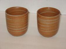 TAG Set of 2 Teacups Without Handles Ceramic Stoneware Brownish Orange NEW