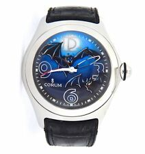 Mens 45mm Corum Stainless Steel Limited Edition Bubble Bats Watch 082.150.20