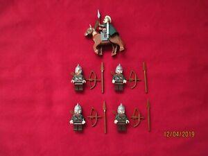 LEGO LOTR Minifigures Lot. Eomer  & Rohan  Soldiers ,Armor,Helmet,Weapons