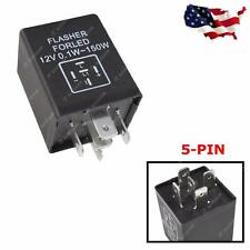 5-Pin EP27 FL27 LED Flasher Relay Decoder 12V Fix Turn Signal Hyper Flash issue