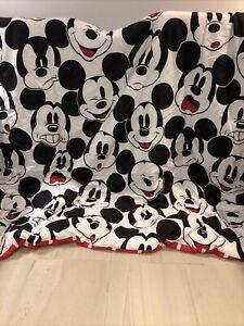 VGUC-HTF-RARE- Mickey Mouse  Faces Twin Comforter Reversible Microfiber