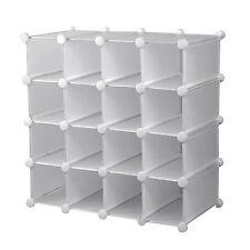16 Pairs Shoe Organizer Storage Cube Interlocking Rack Display Stand New Holder
