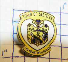 CANADA, TOWN OF STETTLER THE HEART OF ALBERTA SOUVENIR VINTAGE METAL LAPEL PIN