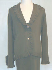 BCBG MAX AZRIA ** WOMEN'S OLIVE GREEN SUIT  ** SIZE TOP XL,SKIRT MEDIUM **