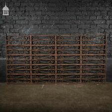 Large 19th C Wrought Iron Railing Panel with Scroll Design