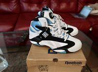 Reebok Shaq Attaq Retro 2013 White Azure Orlando Magic SZ 10.5