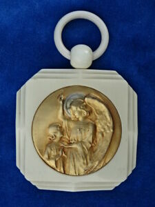 TOP +++ MEDAILLE BERCEAU ART DECO / Cradle medal - ANGE Angel ENFANT Child