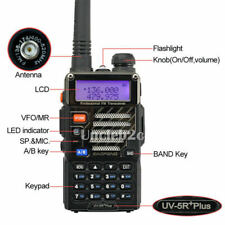 Baofeng UV-5R Plus Dual-Band 136-174/400-520 MHz FM Ham 2-way Radio Talky Walky