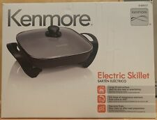 """New Kenmore Electric Non-Stick Skillet 12"""" x 12"""" Tempered Glass Lid 88917"""