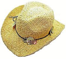 New Stetson Straw Shell Cowboy Hat Ladies Womens Girl Sun Beach Festival Holiday