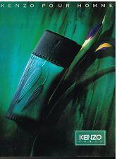 Publicité Advertising 1995 Eau de Toilette Kenzo pour Homme