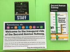 NYC SECOND AVENUE SUBWAY OPENING INAUGURAL RIDE SOUVENIRS MAPS &  BROCHURES