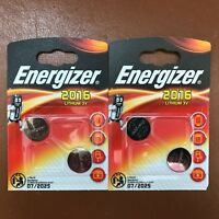 4 X Energizer CR2016 3V Lithium Coin Cell Batteries LONGEST EXPIRY CR 2016