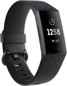 Fitbit Charge 3 Advanced Fitness Tracker with Heart Rate, ex-display