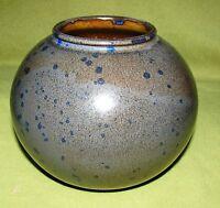 Studio Keramik Vase  Falck Nicolaisen Pressmarke Vogel im Oval Blau-Grau