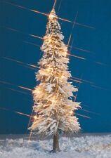 HS Busch 8624 Weihnachtsbaum  beleuchtete Schneetanne mit 9 Kerzenlampen, 195 mm