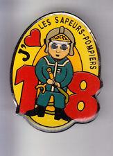 RARE BIG PINS PIN'S .. POMPIER FIRE J'AIME LES POMPIERS 18 LANCE INCENDIE ~CO