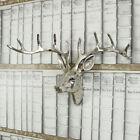 Silver Metal wall hanging mounted Stag deer Head animal display living room gift