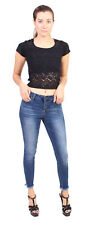 Cello Jeans Women Cropped Skinny Jeans with Fray Hem AB75867