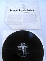 **SIGNED** FRANCES FAYE - IN FRENZY LP / ORIGINAL U.S VERVE FAYE AUTOGRAPH 2147