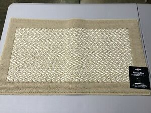 """NWT Mohawk Home Accent Rug 20"""" x 34"""" Sherlock Beige Stain & Fade Resistant #397V"""