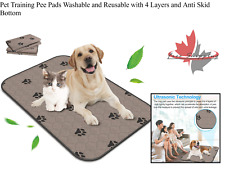 Pet Training Pee Pads Washable and Reusable with 4 Layers and Anti Skid Bottom