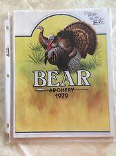 Vintage Original Bear Archery Catalog 1979