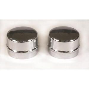 """Mr Gasket Wheel Bearing Dust Cap 2485; 1.790"""" Chrome Steel (Pair)"""