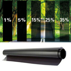 "VLT 5% Uncut Window Tint Roll Home Commercial Office Auto Film Visor 19""x 10ft"