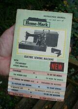 Old vtg antique HOME MARK electric sewing Machine INSTRUCTION MANUAL bobbin 16pg