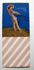1940s Pin Up Girl Picture Blotter Cute Brunette on Hay Wagon