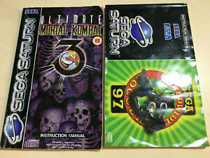 Ultimate Mortal Kombat and Worldwide Soccer 97 manuals Sega Saturn