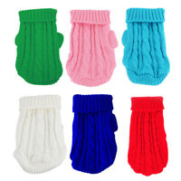 XXXS XXS XS Dog Puppy Knitted Jumper Sweater Warm Coat for Chihuahua Toy Poodle