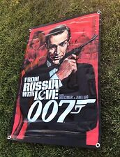 From Russia with love movie poster film banner sign James Bond tuxedo figure A12