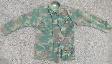 VTG 60s Vietnam ERDL Tropical Camouflage Poplin Slant Pocket Shirt Jacket Medium